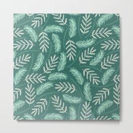 Pine Leaves Metal Print