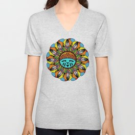 Hopi Sunshine Girl by Amanda Martinson Unisex V-Neck