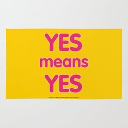 Yes means Yes - SB967 - color Rug