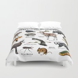 Animals of the Black Forest Duvet Cover