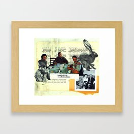 Levels of life on a rocky shore Framed Art Print