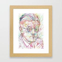JAMES JOYCE portrait Framed Art Print