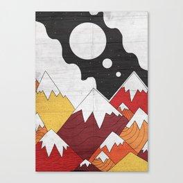 Three Moon Mounts Canvas Print