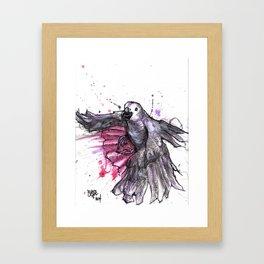 Flappy grey Framed Art Print