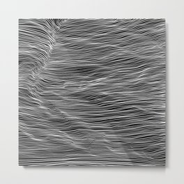 White lines on black background 2 Metal Print