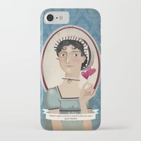 jane austen iPhone & iPod Cases featuring Jane Austen said... by Mrs Peggotty