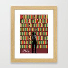 THE PROFESSOR Framed Art Print