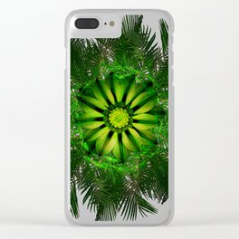 The Majesty Palm Light Flower Clear iPhone Case