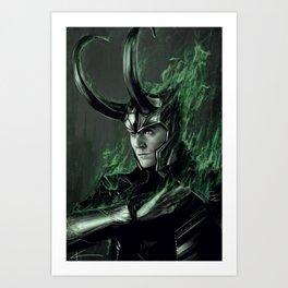 Green Fire Art Print