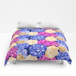 rose head flower pattern Comforters