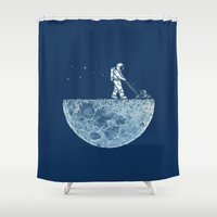 tree Shower Curtains featuring Mown by Enkel Dika