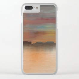 Desert Sunset Clear iPhone Case