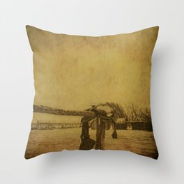 Saddle On The Hitching Post Throw Pillow