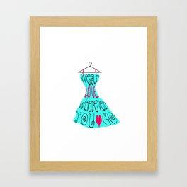 Wear Love Wherever You Go (aqua) Framed Art Print