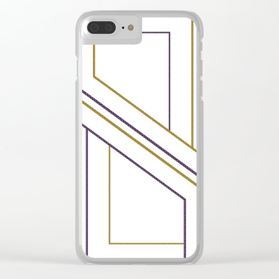Geometry on white (abstract) Clear iPhone Case