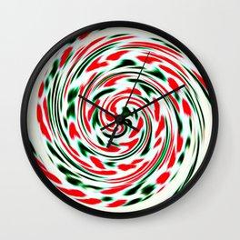 Spearmint Lollipop Wall Clock