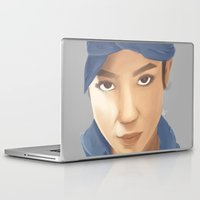 tupac Laptop & iPad Skins featuring Makaveli Aiko by Rey Lallave