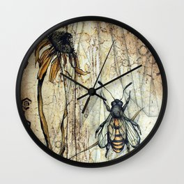 Pollination Wall Clock