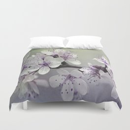 Misty Flowers Duvet Cover