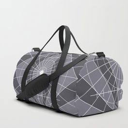 Monochrome Minimalist Geometric Lines Design Duffle Bag