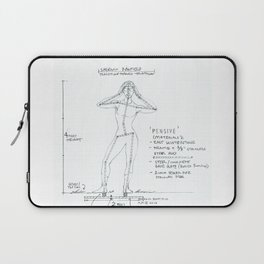 Pensive Drawing, Transitions through Triathlon Laptop Sleeve
