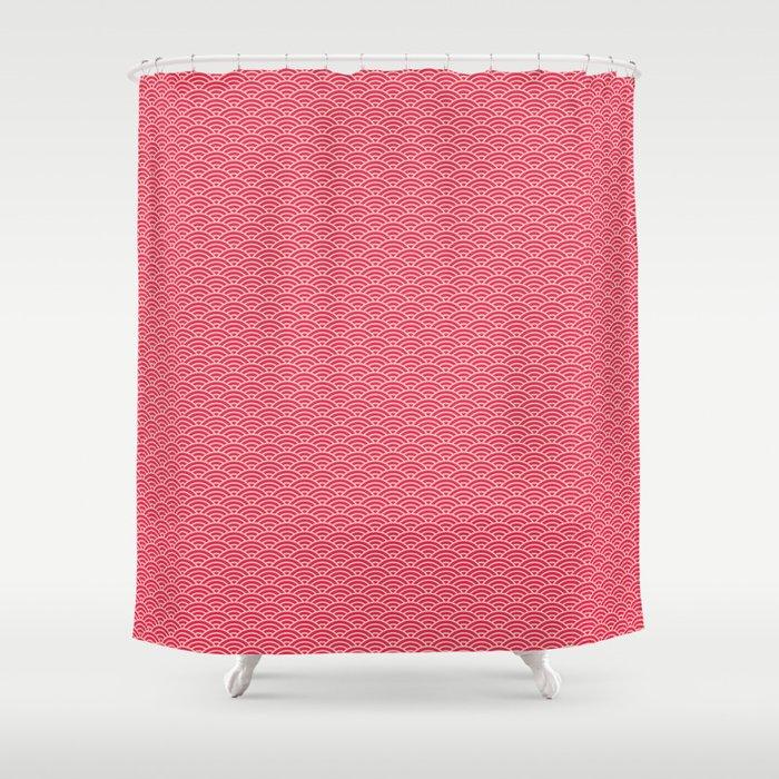 Japanese Sakura Koinobori Fish Scale Reversed Shower Curtain