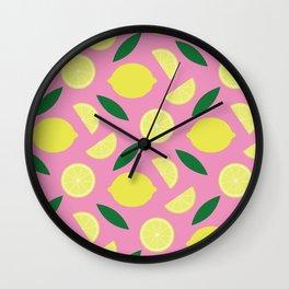 Pink Lemonade Wall Clock