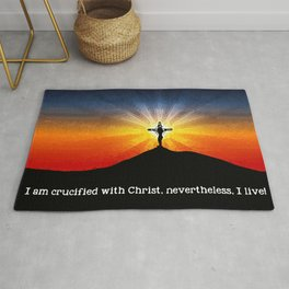 Crucified with Christ Rug