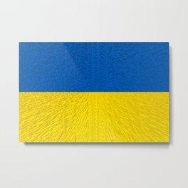 Extruded flag of Ukraine Metal Print