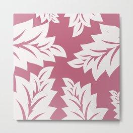 tropical pink leaves Metal Print
