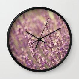 Sea of Purple Wall Clock