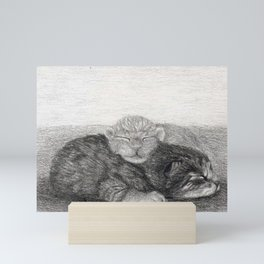 Snuggling Kittens 2 Mini Art Print