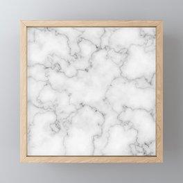 White marble Framed Mini Art Print