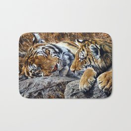 Sleepers by Alan M Hunt Bath Mat