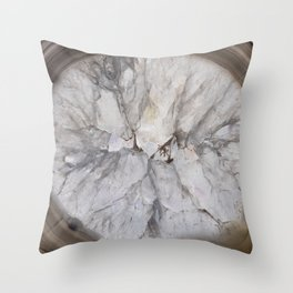 Crystal geode Throw Pillow