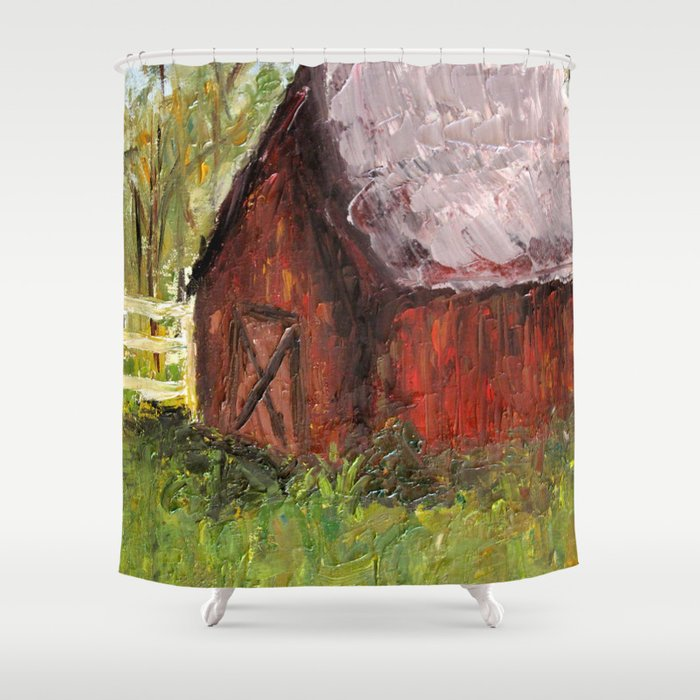 Countryside Barn Shower Curtain