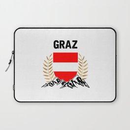 Graz Austria Alps TShirt Austria Flag Shirt Austrian Alps Gift Idea  Laptop Sleeve