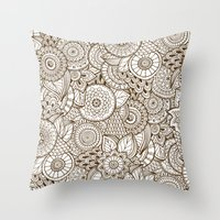 tribal Throw Pillows featuring Tribal by Ale Ibanez