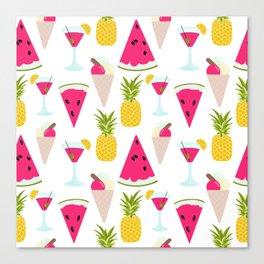 Tropical Beach Cocktail Canvas Print