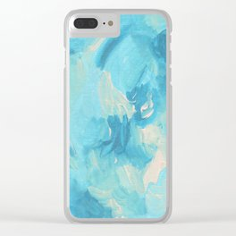 Aqua Pool Abstract Clear iPhone Case