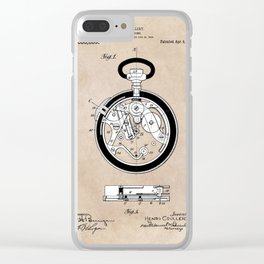 patent Coullery Metronome 1908 Clear iPhone Case