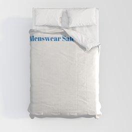 Menswear Salesperson Ninja in Action Comforters