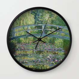 Claude Monet The Japanese Footbridge and the Waterlily Pool at Giverny 1899 Wall Clock