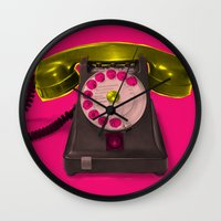 booty Wall Clocks featuring Booty Call Marylin 2 by KEFLIONE