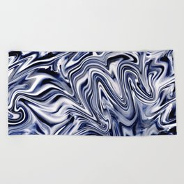 Indigo Marble Beach Towel