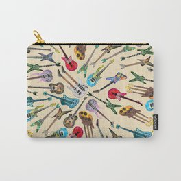 Electric Guitars Pattern Watercolor Carry-All Pouch