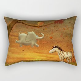 Animals in the Forest Rectangular Pillow