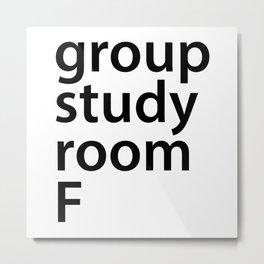 Group study room F Metal Print
