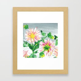 Dahlias for a cloudy day i Framed Art Print