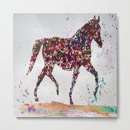 Multi spot horse dancing Metal Print